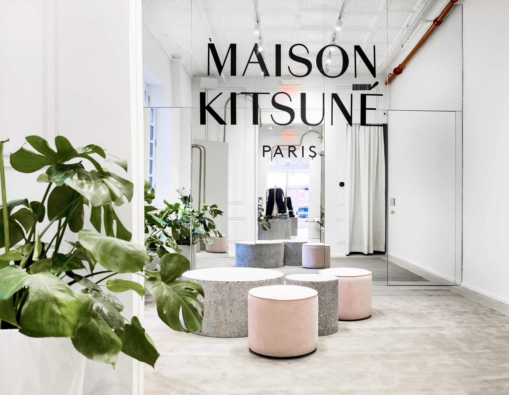 Lafayette Street store, photo courtesy of Maison Kitsuné.