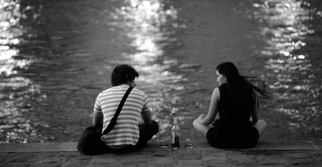sitting by the seine