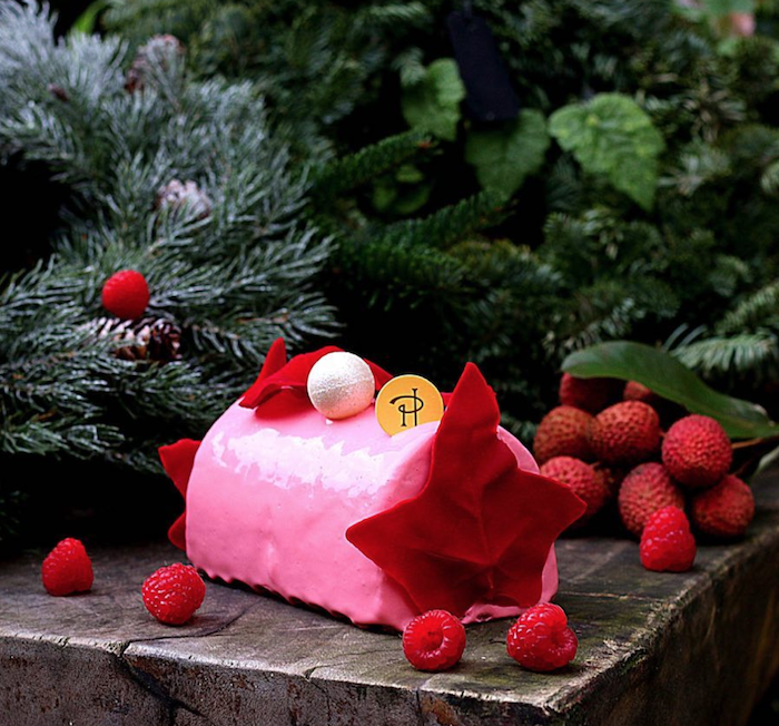 Pierre Herme the ISPAHAN Bûche de Noel - Photo @parischezsharon