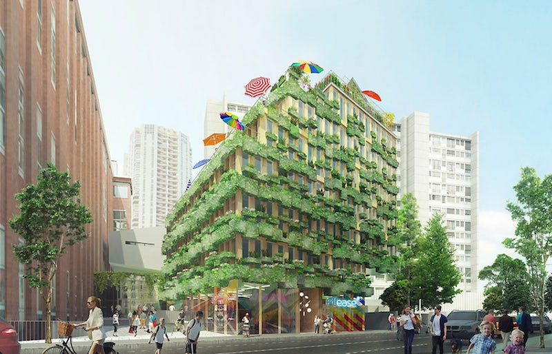 The Edison Lite Project won a site in the 13th arrondissement. (Project by Manuelle Gautrand Architecture.)