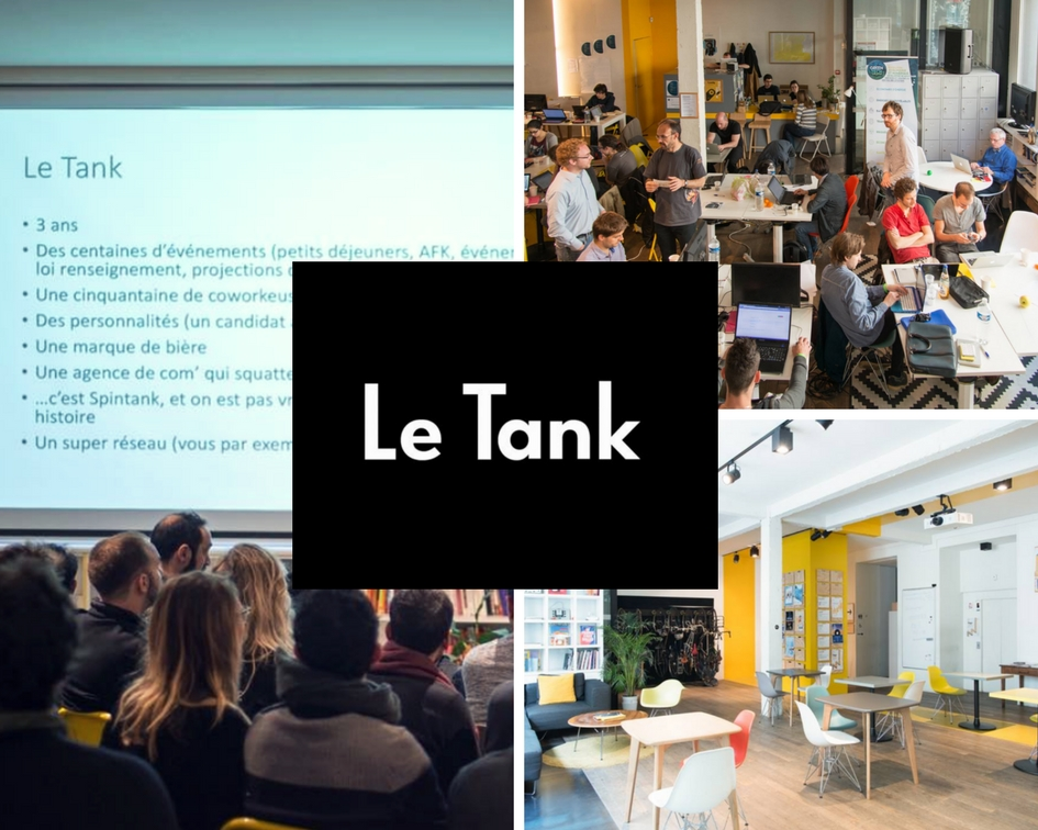 Tech coworking space Le Tank Paris