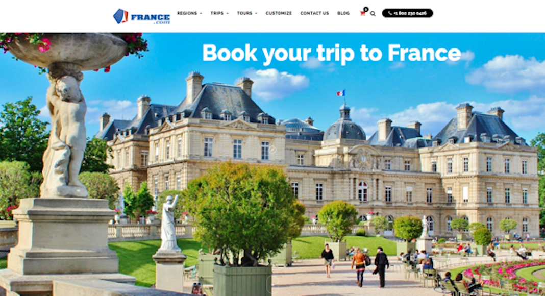 The old france.com site. Frydman has had france.com since 1994